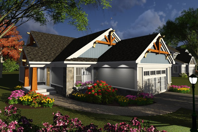 Architectural House Design - Ranch Exterior - Front Elevation Plan #70-1241