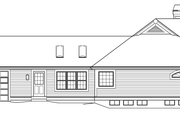 Country Style House Plan - 3 Beds 3 Baths 2800 Sq/Ft Plan #57-577 Exterior - Other Elevation