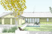 Ranch Style House Plan - 4 Beds 3.5 Baths 2580 Sq/Ft Plan #445-6 Exterior - Front Elevation
