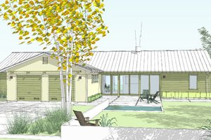 House Plan Design - Ranch Exterior - Front Elevation Plan #445-6