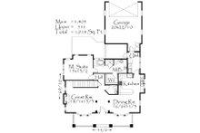 Craftsman Floor Plan - Main Floor Plan Plan #509-22
