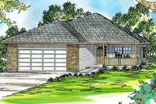 Ranch Exterior - Front Elevation Plan #124-313