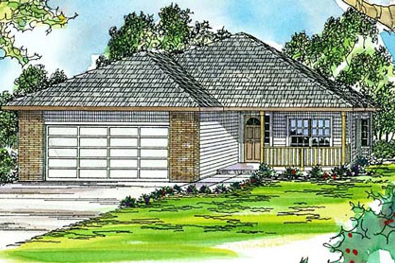 Dream House Plan - Ranch Exterior - Front Elevation Plan #124-313