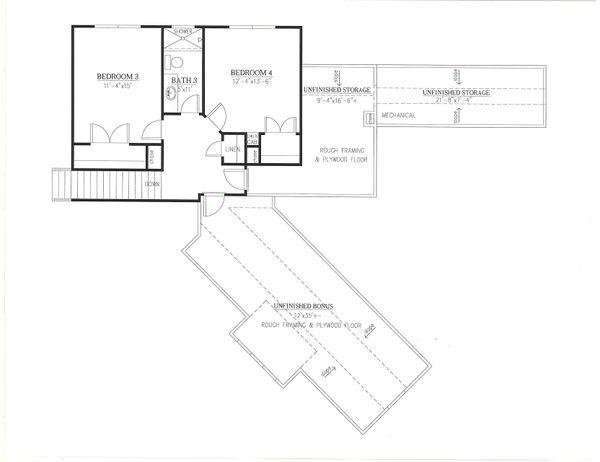 Farmhouse Floor Plan - Upper Floor Plan #437-125