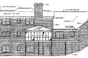 European Style House Plan - 4 Beds 3.5 Baths 3455 Sq/Ft Plan #10-223 Exterior - Rear Elevation