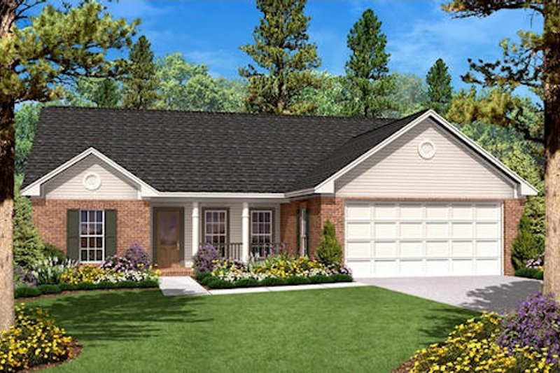 Traditional Exterior - Front Elevation Plan #430-8 - Houseplans.com