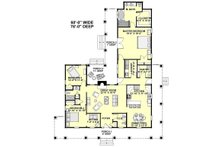 Country Floor Plan - Main Floor Plan Plan #44-155