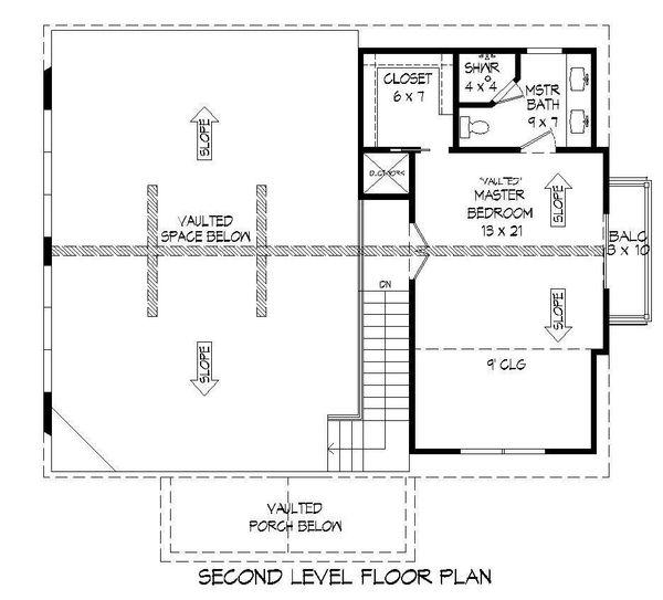Country Floor Plan - Upper Floor Plan #932-204