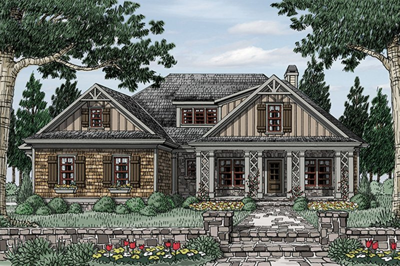 Country Exterior - Front Elevation Plan #927-17 - Houseplans.com
