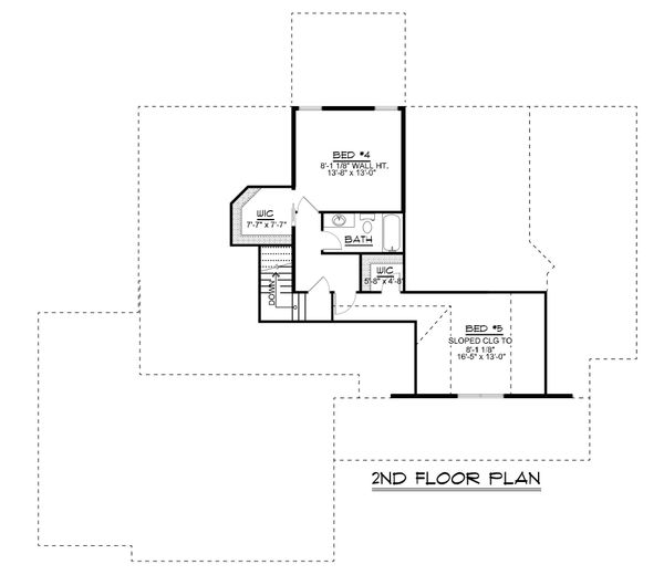 Dream House Plan - Ranch Floor Plan - Upper Floor Plan #1064-88