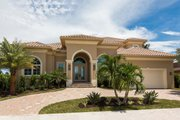 Mediterranean Style House Plan - 4 Beds 3.5 Baths 4454 Sq/Ft Plan #27-552 Exterior - Front Elevation