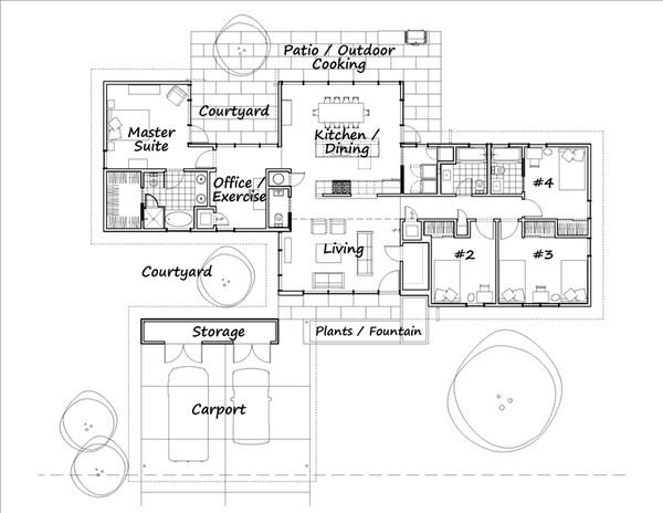 Modern Floor Plan - Main Floor Plan #460-3