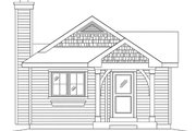 Cottage Style House Plan - 1 Beds 1 Baths 644 Sq/Ft Plan #22-597