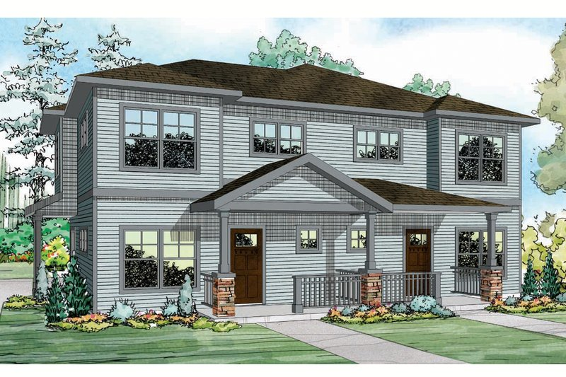 Architectural House Design - Country Exterior - Front Elevation Plan #124-919