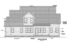 Dream House Plan - Farmhouse Exterior - Rear Elevation Plan #1071-8