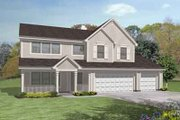 Traditional Style House Plan - 4 Beds 3 Baths 2770 Sq/Ft Plan #50-240 Exterior - Front Elevation