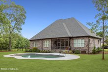 Dream House Plan - European Exterior - Rear Elevation Plan #929-915
