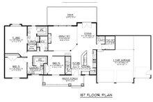 Craftsman Floor Plan - Main Floor Plan Plan #1064-59