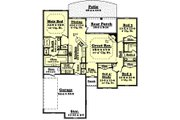 Traditional Style House Plan - 4 Beds 2 Baths 1850 Sq/Ft Plan #430-54 Floor Plan - Main Floor Plan