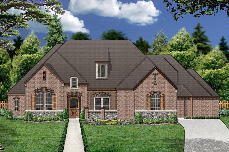 Dream House Plan - European Exterior - Front Elevation Plan #84-415