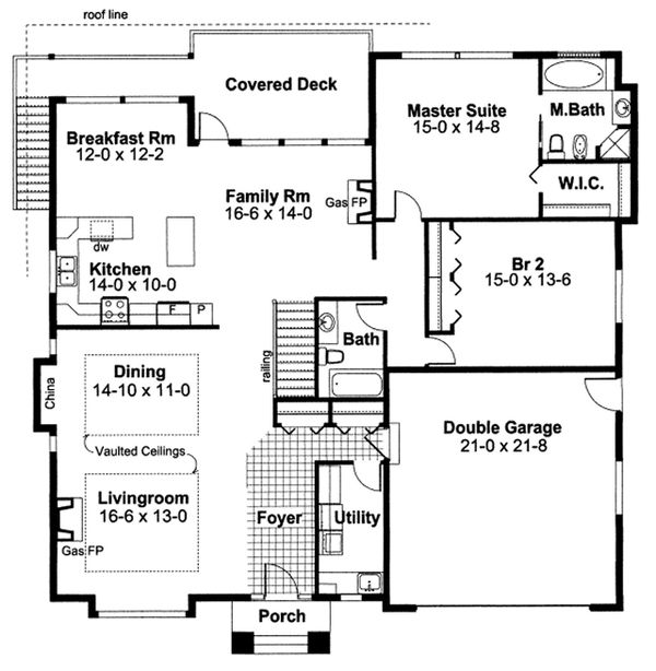 Dream House Plan - Mediterranean Floor Plan - Main Floor Plan #126-229