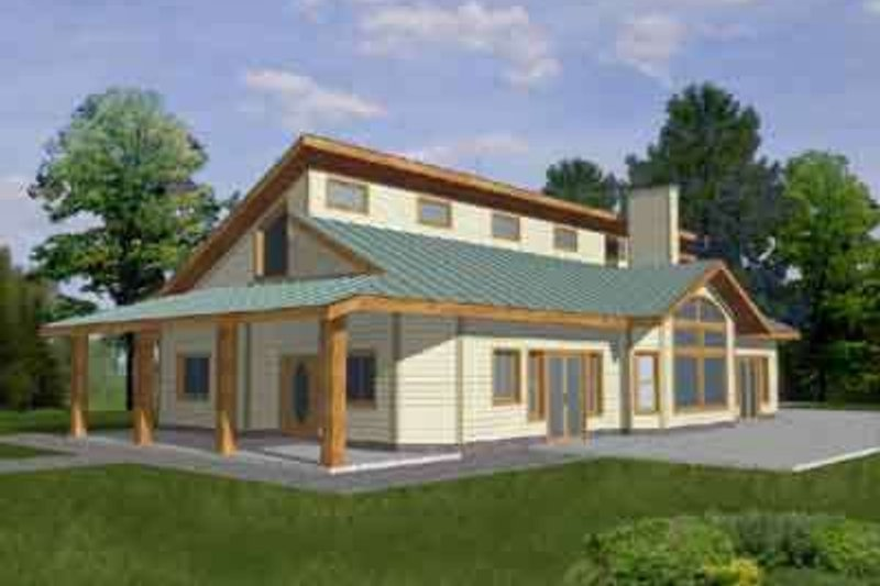 Dream House Plan - Modern Exterior - Front Elevation Plan #117-270