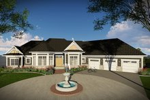 Ranch Exterior - Front Elevation Plan #70-1472