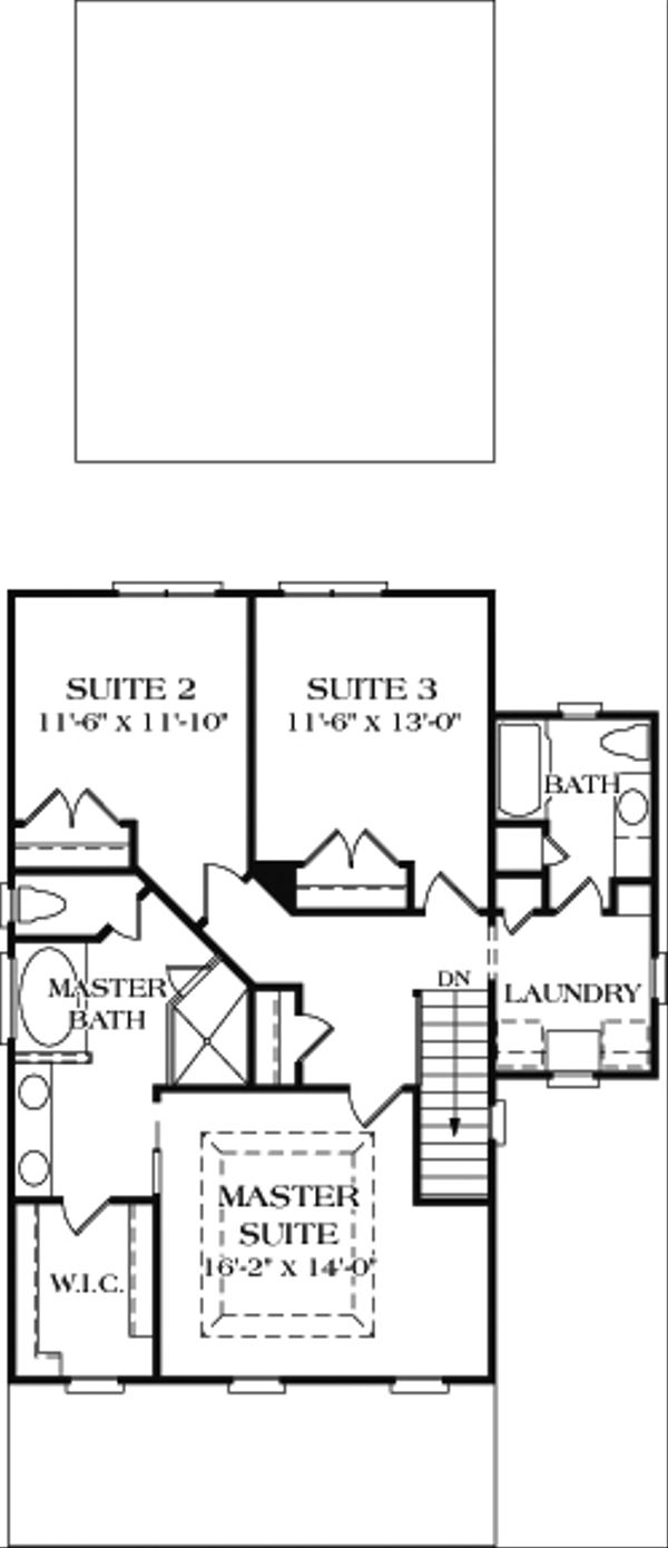 Farmhouse Floor Plan - Upper Floor Plan #453-2