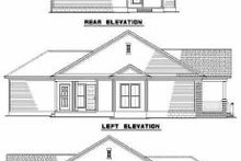 House Plan Design - Southern Exterior - Rear Elevation Plan #17-436