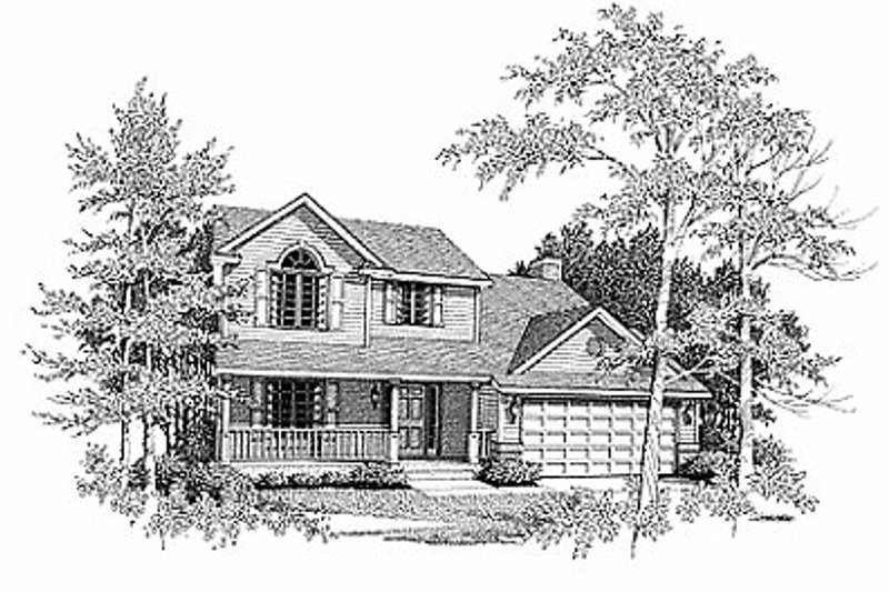 Traditional Exterior - Front Elevation Plan #70-178 - Houseplans.com