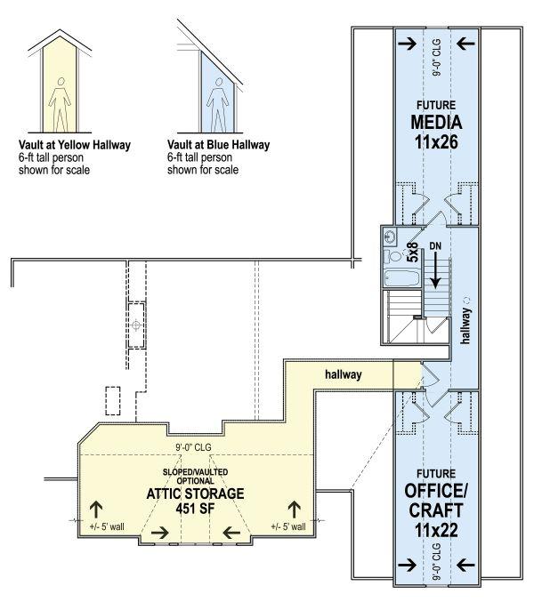 Farmhouse Floor Plan - Upper Floor Plan #119-434