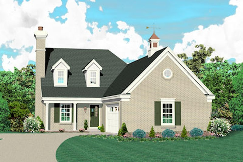 Traditional Style House Plan - 3 Beds 2.5 Baths 1519 Sq/Ft Plan #81-13771 Exterior - Front Elevation