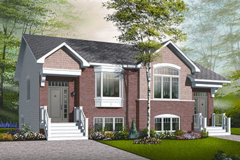 European Exterior - Front Elevation Plan #23-775 - Houseplans.com
