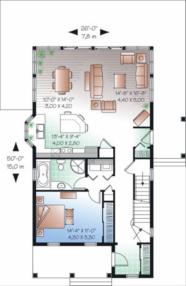 Traditional Floor Plan - Main Floor Plan Plan #23-825