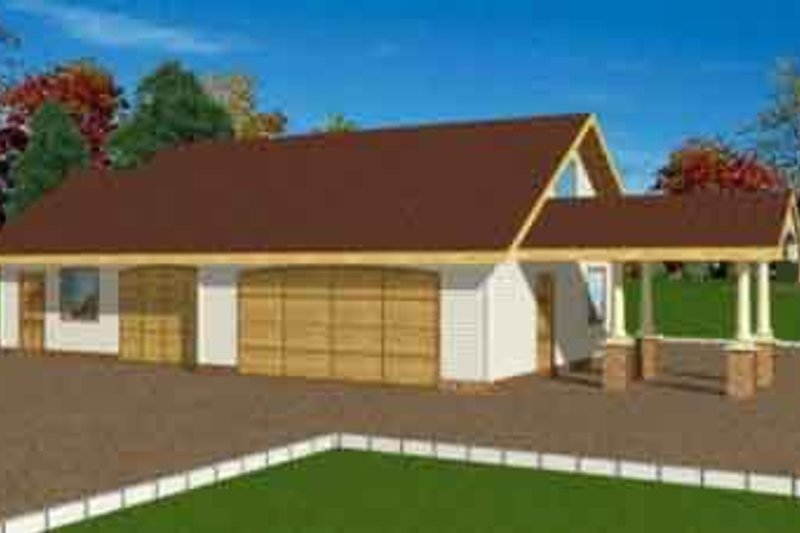Traditional Exterior - Front Elevation Plan #117-263 - Houseplans.com
