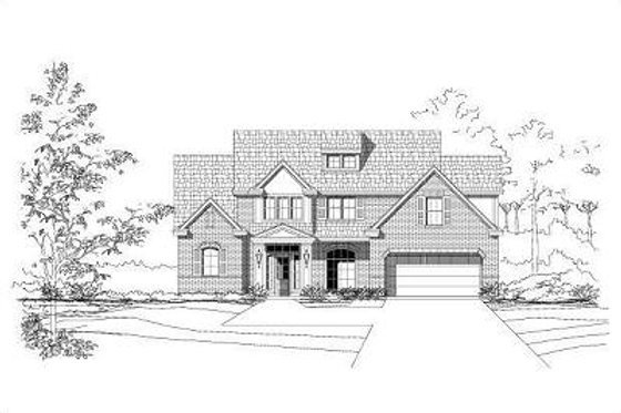Traditional Exterior - Front Elevation Plan #411-275