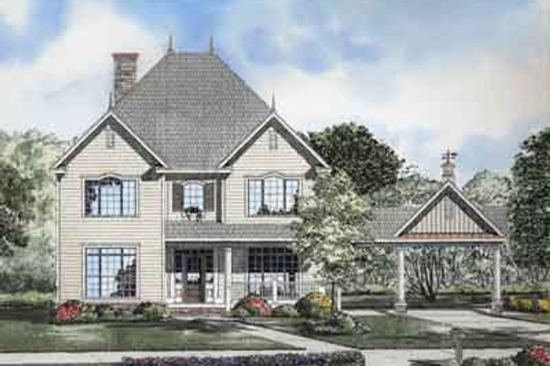Dream House Plan - Traditional Exterior - Front Elevation Plan #17-2101