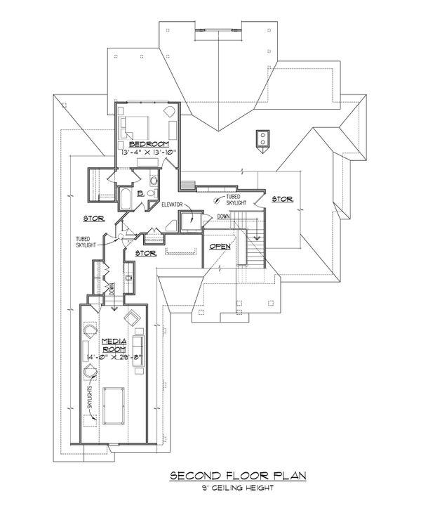 Dream House Plan - European Floor Plan - Upper Floor Plan #1054-51