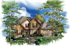 Traditional Exterior - Front Elevation Plan #71-112