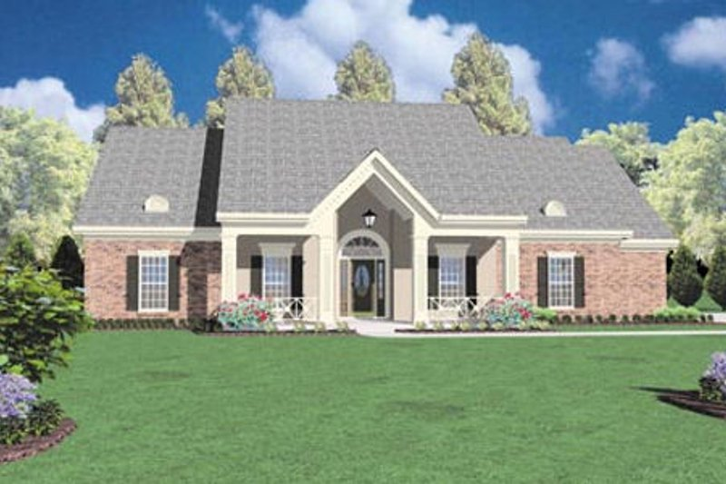 Traditional Style House Plan - 4 Beds 2.5 Baths 2326 Sq/Ft Plan #36-207 Exterior - Front Elevation