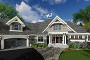 Craftsman Style House Plan - 4 Beds 3 Baths 2374 Sq/Ft Plan #51-569 Exterior - Front Elevation