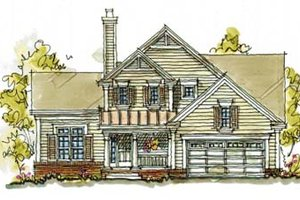 Country Exterior - Front Elevation Plan #20-243
