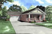 Southern Style House Plan - 3 Beds 2 Baths 1250 Sq/Ft Plan #17-622 Exterior - Front Elevation