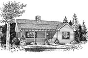 Country Style House Plan - 2 Beds 1 Baths 990 Sq/Ft Plan #22-125 Exterior - Other Elevation