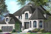European Style House Plan - 5 Beds 3.5 Baths 3470 Sq/Ft Plan #25-4162 Exterior - Front Elevation