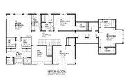 European Style House Plan - 4 Beds 3.5 Baths 3717 Sq/Ft Plan #901-90 Floor Plan - Upper Floor Plan