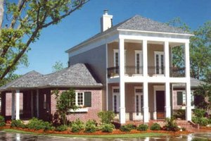 Home Plan - Southern Exterior - Front Elevation Plan #406-297