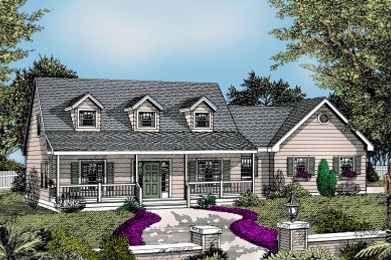 Country Style House Plan - 3 Beds 2.5 Baths 1830 Sq/Ft Plan #101-201 Exterior - Front Elevation