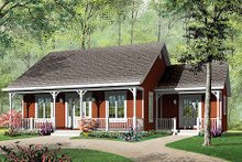 Dream House Plan - Cottage Exterior - Front Elevation Plan #23-320