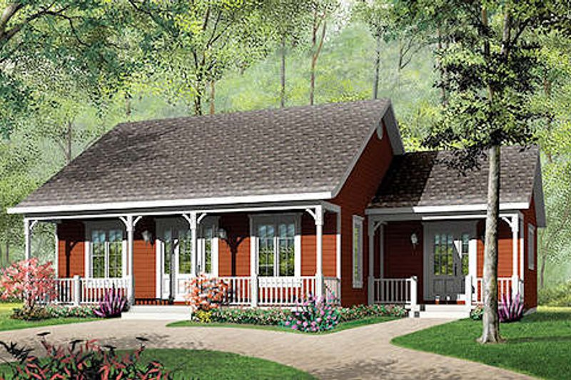 Cottage Exterior - Front Elevation Plan #23-320